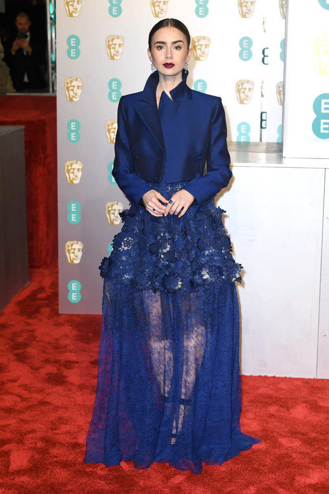 bafta-2019:-lily-collins